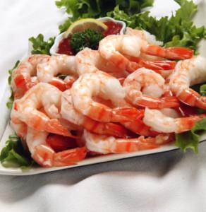 les crevettes du buffet froid Joliette Les délices du Gourmet