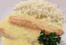 Filet de truite sur choux cuisinés, beurre nantais