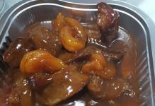 Aiguillettes de canard à l'orange et à l'abricot
